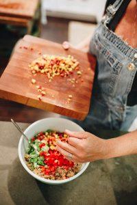 The Sown Life-Curried Quinoa Salad-Add-Veggies-960