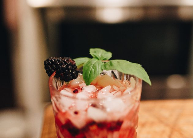 Blackberry, Lime and Basil Mocktail