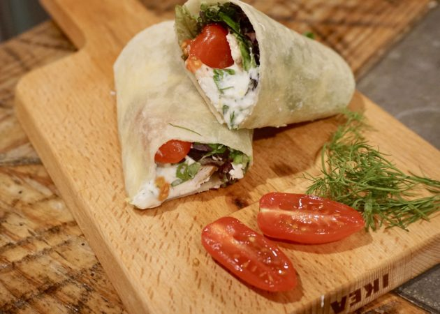 Fresh Greek Chicken Wraps