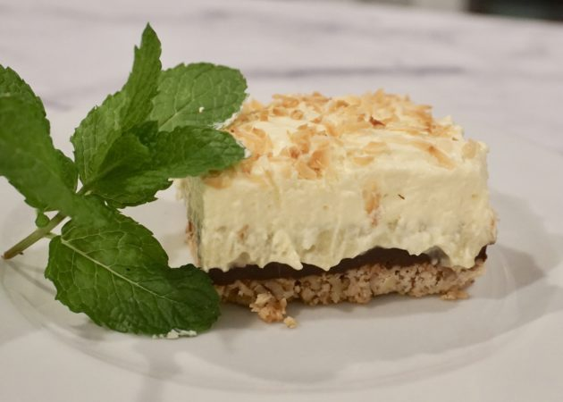 Coconut Cream Pie with Chocolate Ganache