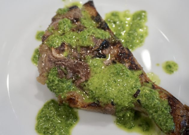 Grilled Lamb with Chimichurri Sauce