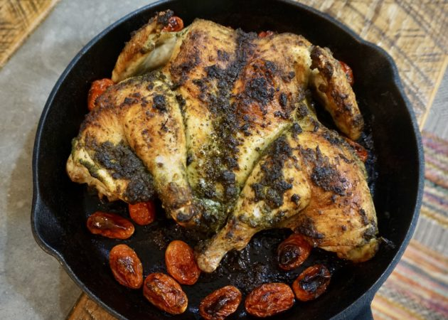 Roasted Spatchcocked Chicken