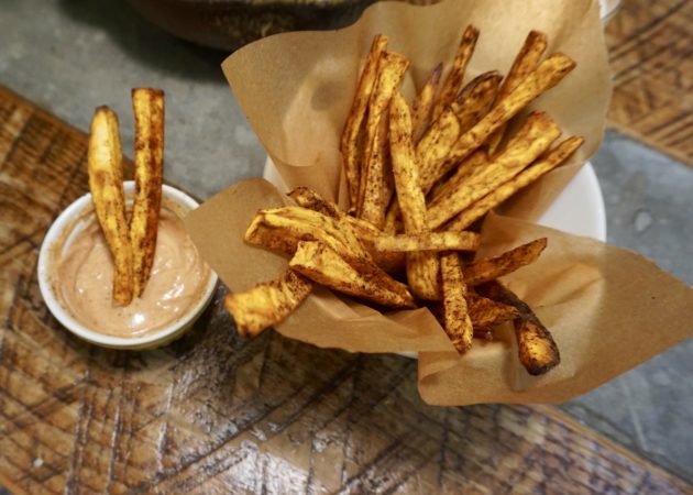 Chili Spiced Sweet Potato Fries with Chipotle Aioli