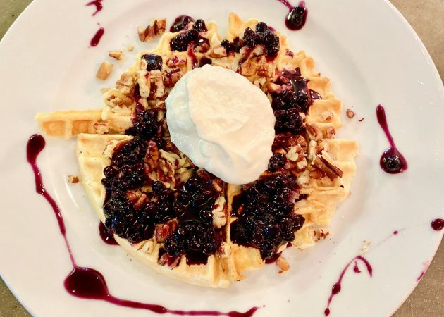 Blueberry Pecan Waffles