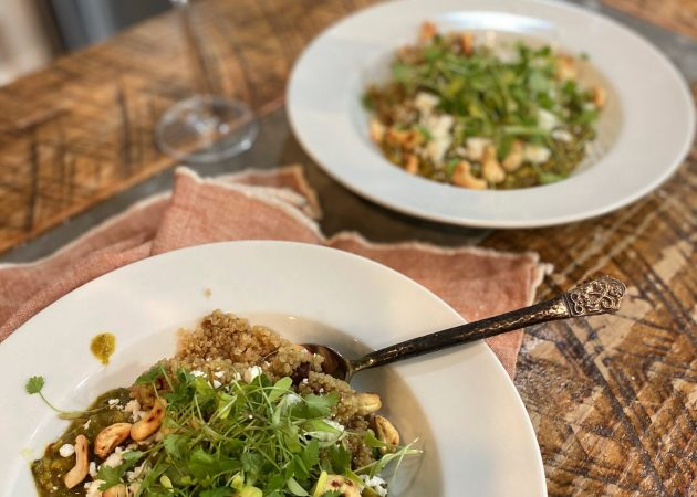 Mung Bean Dahl with Fig and Cashew Quinoa